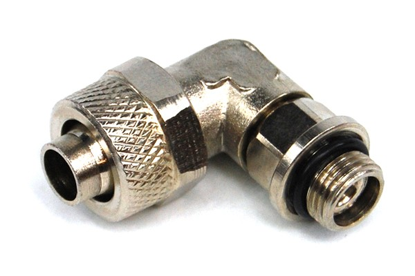 10/8mm (8x1mm) compression fitting G1/8 90° revolvable with O-Ring