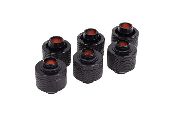 Alphacool HF 19/13 compression fitting G1/4 - Deep Black sixpack
