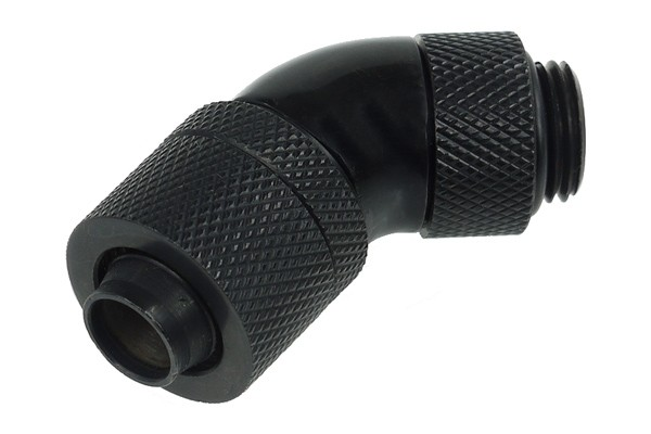 Alphacool 13/10 compression fitting 45° revolvable G1/4 - Deep Black