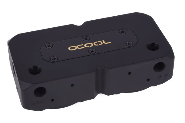 Alphacool Eisdecke D5 dual brass top - deep black